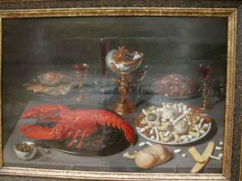 nature morte homard 17e